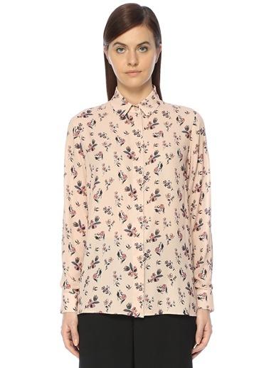 Çiçek Desenli Gömlek-Belle Epoque